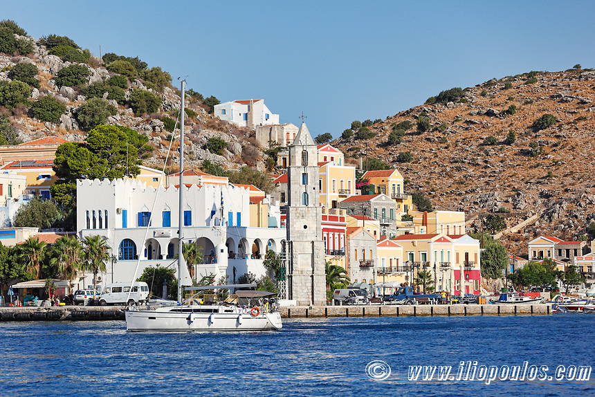 The port of Symi island is definitely the most beautiful in Greece.