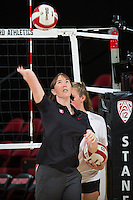 STANFORD, CA - September 9, 2016: Cassidy Lichtman at Maples Pavilion. The Purdue Boilermakers defeated the Stanford Cardinal 3 - 2.