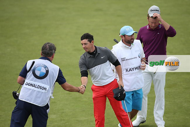 Rory McIlroy (NIR) completes Round Two and will sadly miss the weekend at the 2015 BMW PGA Championship over the West Course at Wentworth, Virginia Water, London. 22/05/2015Picture David Lloyd, www.golffile.ie.