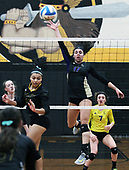 Wixom St. Catherine defeats Madison Heights Bishop Foley 3-1 in regional semifinal volleyball action at Foley Tuesday, Nov. 7, 2017. (For The Oakland Press / LARRY McKEE)