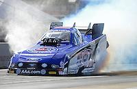 Jan. 16, 2013; Jupiter, FL, USA: NHRA funny car driver Robert Hight during testing at the PRO Winter Warmup at Palm Beach International Raceway.  Mandatory Credit: Mark J. Rebilas-