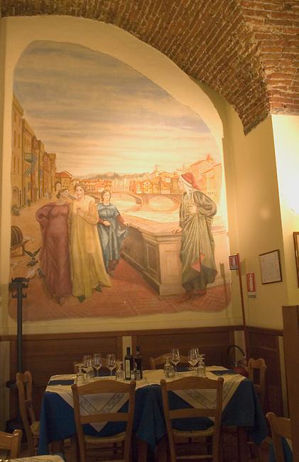 Interior, Dante Restaurant, Florence, Tuscany, Italy