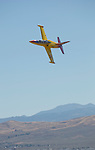 Jeff Turney, from Reno, competes in the Jet Class in his plane Robin 1 during the National Championship Air Races at the Reno-Stead Airfield Friday, Sept. 18, 2015.