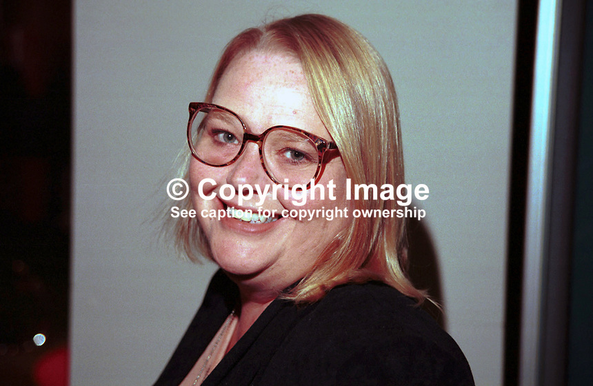 Cathy Atherton, Labour MP, Britain, Taken at Labour Party Annual Conference. Ref: 199710122..Copyright Image from Victor Patterson, 54 Dorchester Park, Belfast, UK, BT9 6RJ..Tel: +44 28 9066 1296.Mob: +44 7802 353836.Voicemail +44 20 8816 7153.Skype: victorpattersonbelfast.Email: victorpatterson@mac.com.Email: victorpatterson@ireland.com (back-up)..IMPORTANT: If you wish to use this image or any other of my images please go to www.victorpatterson.com and click on the Terms & Conditions. Then contact me by email or phone with the reference number(s) of the image(s) concerned.
