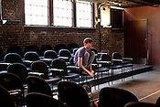 Alex Tobey directs scenes during Burning Coal Theatre's presentation of Politheatrics 2012, June 28-July 8, in Raleigh.