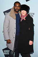 Nicholas Pinnock and wife, Olivia Williams<br /> arriving for the Skate at Somerset House 2017 opening, London<br /> <br /> <br /> ©Ash Knotek  D3351  14/11/2017