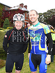 Group leaders Liam Maxwell and Alan Weston before the start of the Enda Collins Memorial cycle to Galway to raise funds for the Gary Kelly Cancer Support Centre. Photo:Colin Bell/pressphotos.ie
