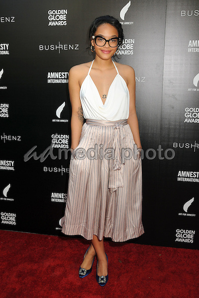 8 January 2016 - West Hollywood, California - Kiersey Clemons. 1st Annual Art for Amnesty Pre-Golden Globes Brunch held at Chateau Marmont. Photo Credit: Byron Purvis/AdMedia