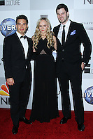 BEVERLY HILLS, CA - JANUARY 12: Apollo Ohno, Nastia Liukin, Tim Morehouse at the NBC Universal 71st Annual Golden Globe Awards After Party held at The Beverly Hilton Hotel on January 12, 2014 in Beverly Hills, California. (Photo by David Acosta/Celebrity Monitor)