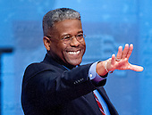 United States Representative Allen West (Republican of Florida) waves to supporters after makng remarks at the 2012 CPAC Conference at the Marriott Wardman Park Hotel in Washington, D.C. on Friday, February 10, 2012..Credit: Ron Sachs / CNP