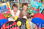 FUN TIME: Castleisland Librarians Lucy Kerins (Cullen) and Eileen Murphy (Abbeyfeale)  checking out the childrens area at the opening of the new Catleisland Library last week.   Copyright Kerry's Eye 2008