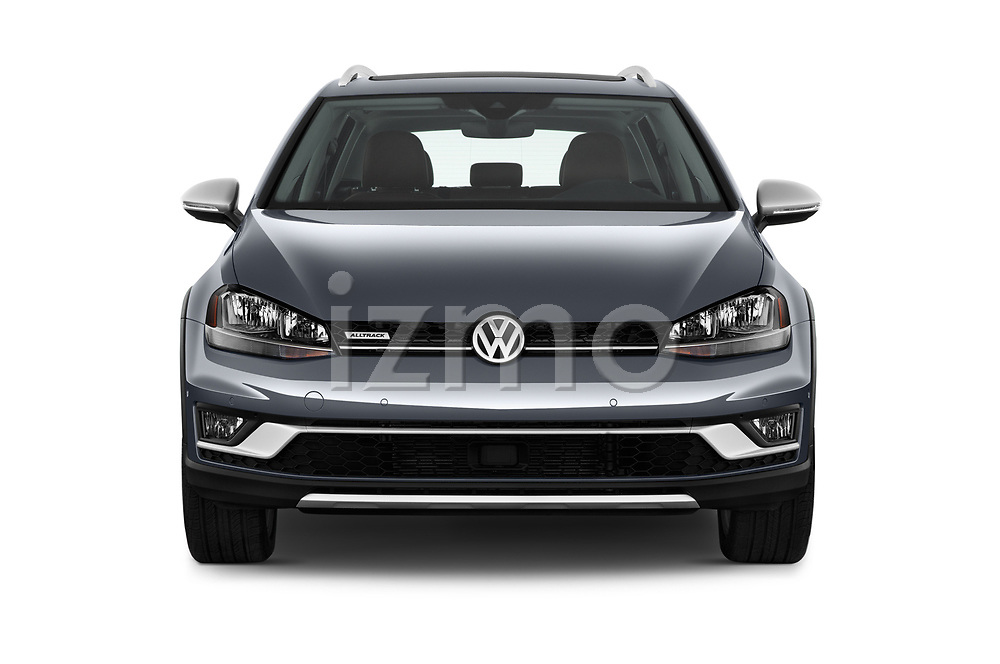 Car photography straight front view of a 2018 Volkswagen Golf Alltrack TSI SEL 4Motion DSG 5 Door Wagon