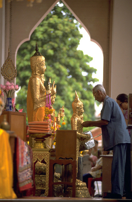 A small roadside shrine in Thailand