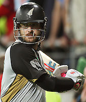 NZ captain Daniel Vettori during 2nd Twenty20 cricket match match between New Zealand Black Caps and West Indies at Westpac Stadium, Wellington, New Zealand on Friday, 27 February 2009. Photo: Dave Lintott / lintottphoto.co.nz