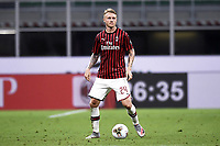 Simon Kjaer of AC Milan during the Serie A football match between AC Milan and Bologna FC at stadio Giuseppe Meazza in Milano ( Italy ), July 18th, 2020. Play resumes behind closed doors following the outbreak of the coronavirus disease. <br /> Photo Image Sport / Insidefoto
