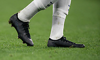 The black nike boots of Callum Hudson-Odoi of Chelsea U23 during the Premier League 2 match between Chelsea U23 and Brighton & Hove Albion Under 23 at Stamford Bridge, London, England on 13 September 2019. Photo by Andy Rowland.