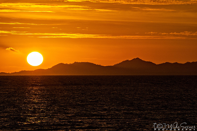 Sunset over the Mamanuca Islands in Fiji