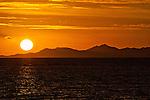 Sunset over the Mamanuca Islands in Fiji