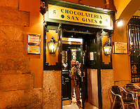 Chocolateria, San Gines, Madrid, Spain