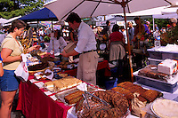Artisan Baker selling Baked Goods and Sweets at the Saturday Market in Ganges, on Saltspring Island, in the Southern Gulf Islands of British Columbia, Canada