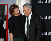 "LOS ANGELES - OCT 6:  Linda Emond, Ang Lee at the ""Gemini"" Premiere at the TCL Chinese Theater IMAX on October 6, 2019 in Los Angeles, CA"