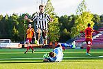 S&ouml;dert&auml;lje 2014-08-18 Fotboll Superettan Syrianska FC - Landskrona BoIS :  <br /> Syrianskas m&aring;lvakt Dejan Garaca rusar ut och avv&auml;rjer en m&aring;lchans f&ouml;r Landskronas Niclas R&ouml;nne R&oslash;nne <br /> (Foto: Kenta J&ouml;nsson) Nyckelord:  Syrianska SFC S&ouml;dert&auml;lje Fotbollsarena Landskrona BoIS