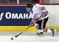 Nebraska-Omaha's Josh Archibald. Nebraska-Omaha defeated St. Cloud State 4-3 Saturday night at CenturyLink Center in Omaha. (Photo by Michelle Bishop) .