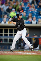 Quad Cities River Bandits left fielder Stephen Wrenn (22) at bat during a game against the Lake County Captains on May 6, 2017 at Modern Woodmen Park in Davenport, Iowa.  Lake County defeated Quad Cities 13-3.  (Mike Janes/Four Seam Images)