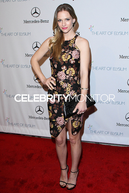 "HOLLYWOOD, LOS ANGELES, CA, USA - FEBRUARY 26: A. J Cook at The Art Of Elysium's 7th Annual ""Pieces Of Heaven"" Charity Art Auction held at Siren Studios on February 26, 2014 in Hollywood, Los Angeles, California, United States. (Photo by David Acosta/Celebrity Monitor)"