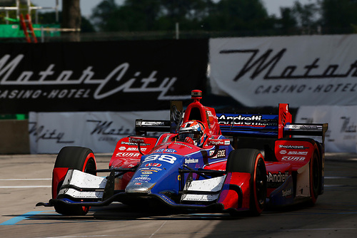 Verizon IndyCar Series<br /> Chevrolet Detroit Grand Prix Race 2<br /> Raceway at Belle Isle Park, Detroit, MI USA<br /> Sunday 4 June 2017<br /> Alexander Rossi, Andretti Herta Autosport with Curb-Agajanian Honda<br /> World Copyright: Phillip Abbott<br /> LAT Images<br /> ref: Digital Image abbott_detroit_0617_8314