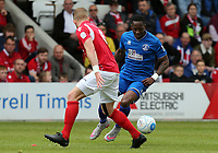 Chris Dicksonof Chelmsford City and Kenny Clark of Ebbsfleet United during Ebbsfleet United vs Chelmsford City, Vanarama National League South Play-Off Final Football at The PHB Stadium on 13th May 2017