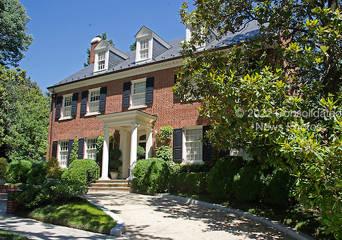 View of the Clinton home in Washington, DC on Saturday midday, July 2, 2016.  Former United States Secretary of State Hillary Clinton is expected to be questioned by the FBI today in relation to her personal e-mail server that is the center of controversy.<br /> Credit: Ron Sachs / CNP<br /> (RESTRICTION: NO New York or New Jersey Newspapers or newspapers within a 75 mile radius of New York City)