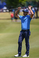 Charl Schwartzel (RSA) reacts to nearly chipping in on 1 during Round 4 of the Zurich Classic of New Orl, TPC Louisiana, Avondale, Louisiana, USA. 4/29/2018.<br /> Picture: Golffile | Ken Murray<br /> <br /> <br /> All photo usage must carry mandatory copyright credit (&copy; Golffile | Ken Murray)