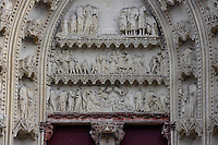 Portal of the echevins, Church of Notre Dame, 12th - 14th century, Mantes-la-Jolie, Yvelines, France Picture by Manuel Cohen