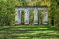 France, Indre-et-Loire (37), Chenonceaux, château et jardins de Chenonceau, les Cariatides par Jean Goujon,<br /> Apollon, Pallas, Hercule et Cybèle