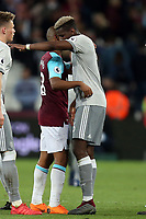 Paul Pogba of Manchester United and Joao Mario of West Ham United after West Ham United vs Manchester United, Premier League Football at The London Stadium on 10th May 2018
