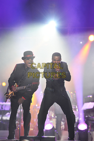 Tito and Jackie Jackson .Michael Forever Tribute Concert at The Millenium Stadium, Cardiff, Wales, UK 8th October 2011.performing live in on stage .CAP/MAR.© Martin Harris/Capital Pictures.
