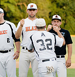 WATERBURY, CT-080317JS08-- Former Womogo standout Mike Odenwaelder was in the line up for Watertown Blaze's opening round game against Bourne Mariners of Cape Cod in the Stan Musial East Coast World Series Thursday at Municipal Stadium in Waterbury. <br /> Jim Shannon Republican-American