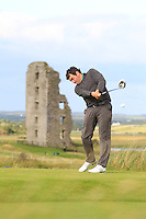 Ed Stack (Ballybunion) on the 13th tee during Round 2 of The South of Ireland in Lahinch Golf Club on Sunday 27th July 2014.<br /> Picture:  Thos Caffrey / www.golffile.ie
