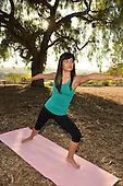 Young asian woman doing yoga