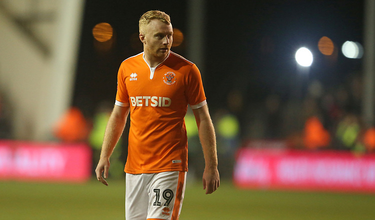 Blackpool's Chris Taylor<br /> <br /> Photographer Stephen White/CameraSport<br /> <br /> Emirates FA Cup Third Round - Blackpool v Arsenal - Saturday 5th January 2019 - Bloomfield Road - Blackpool<br />  <br /> World Copyright &copy; 2019 CameraSport. All rights reserved. 43 Linden Ave. Countesthorpe. Leicester. England. LE8 5PG - Tel: +44 (0) 116 277 4147 - admin@camerasport.com - www.camerasport.com