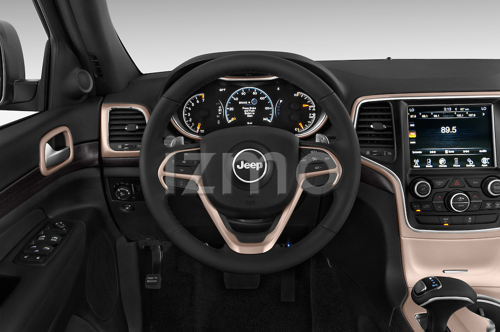 Car pictures of steering wheel view of a 2015 Jeep Grand Cherokee Laredo 5 Door SUV