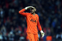 Paulo Gazzaniga of Tottenham Hotspur affter Tottenham Hotspur vs PSV Eindhoven, UEFA Champions League Football at Wembley Stadium on 6th November 2018