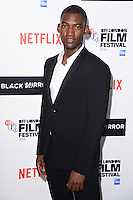 LONDON, ENGLAND. October 6, 2016: Malachi Kirby at the London Film Festival premiere for &quot;Black Mirror&quot; at the Bluebird Cafe, Chelsea, London.<br /> Picture: Steve Vas/Featureflash/SilverHub 0208 004 5359/ 07711 972644 Editors@silverhubmedia.com