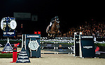 Gerco Schroder of Netherlands rides Glock's London N.O.P. at the Longines Grand Prix during the Longines Hong Kong Masters 2015 at the AsiaWorld Expo on 15 February 2015 in Hong Kong, China. Photo by Xaume Olleros / Power Sport Images