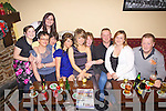 Family and friends celebrate the New Year in The Village Inn, Knocknagashal, pictured l-r: Tara, Kerrieann and Joan O'Shea, Helena and Megan O'Mahoney, Muiriosa?? Brosnan, Ann Brown, Gerard and Sandra O'Brien and Jack Leahy.