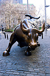 New York City, New York:  Sculpture of bull at New York Stock Exchange.  .Photo #: ny240-14607  .Photo copyright Lee Foster, www.fostertravel.com, lee@fostertravel.com, 510-549-2202.