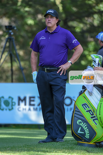 Phil Mickelson (USA) looks over his tee shot on 8 during round 1 of the World Golf Championships, Mexico, Club De Golf Chapultepec, Mexico City, Mexico. 2/21/2019.<br /> Picture: Golffile | Ken Murray<br /> <br /> <br /> All photo usage must carry mandatory copyright credit (© Golffile | Ken Murray)