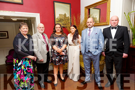 North Kerry Harriers Hunt Ball: Attending  the North Kerry Hunt Ball at the Listowel Arms Hotel on Saturday night last were Bibi & Joe Brosnan, Alana O'Connor, Nicole & Padraig Enright & Paddy Sexton.