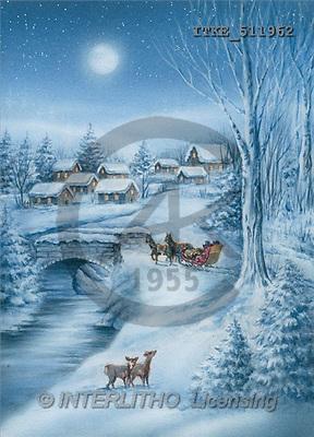 Isabella, CHRISTMAS LANDSCAPE, paintings(ITKE511962,#XL#) Landschaften, Weihnachten, paisajes, Navidad, illustrations, pinturas